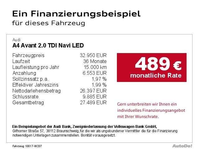 Audi A4 Avant 2.0 TDI Navi LED Bluetooth Klima