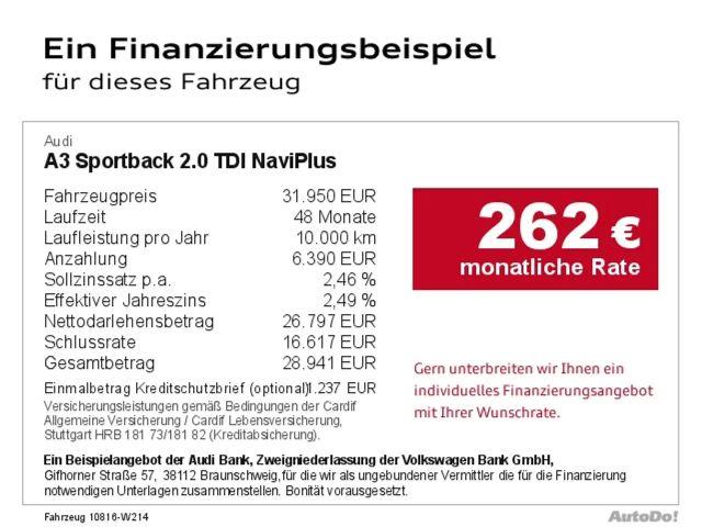 Audi A3 Sportback 2.0 TDI NaviPlus Bluetooth Navi Xenon