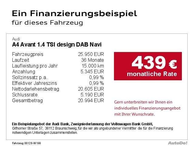 Audi A4 Avant 1.4 TSI design DAB Navi